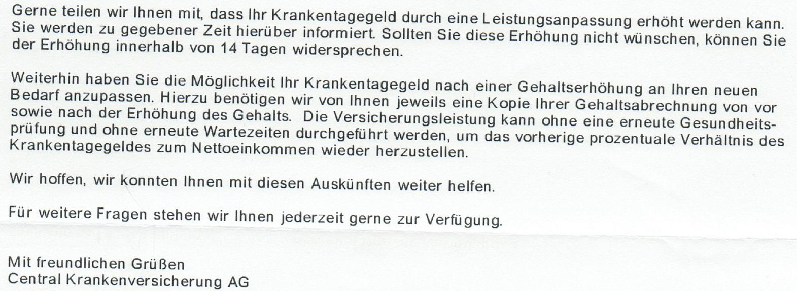 31 Die Central Krankenversicherung & Rechtsprechung!