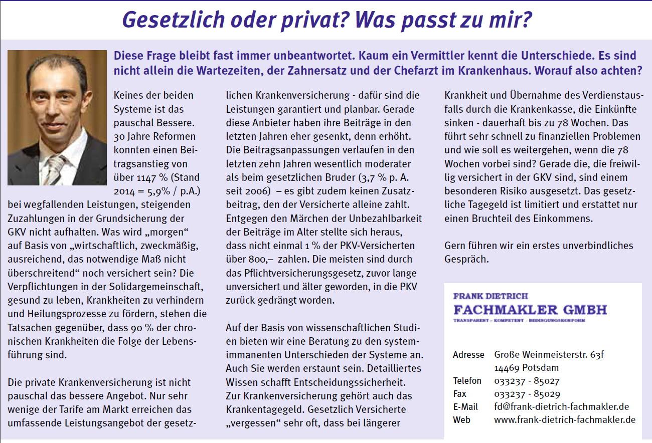 2 Privates & Presse