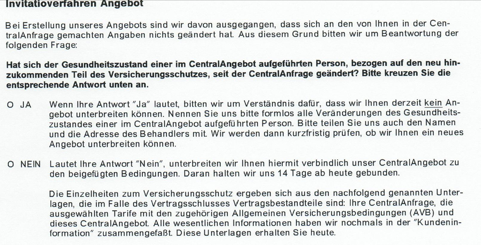 22 Die Central Krankenversicherung & Rechtsprechung!