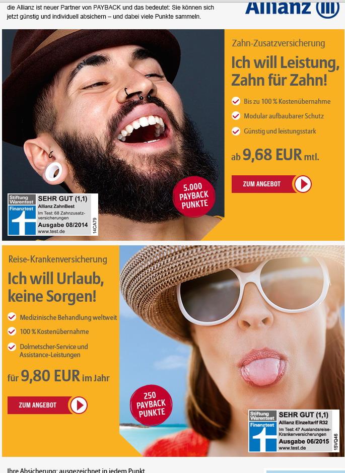 Allianz-Payback Allianz und Pay Back Vertrieb