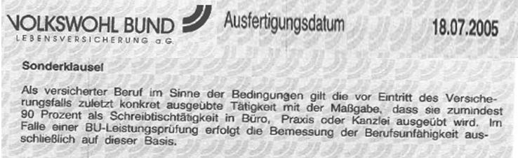 Unbenanntq Berufsunfähigkeitsversicherung ad absurdum-Umsatz first