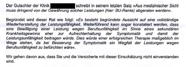 Unbenan-1 Thema Gutachten - wenn Ärzte beurteilen!