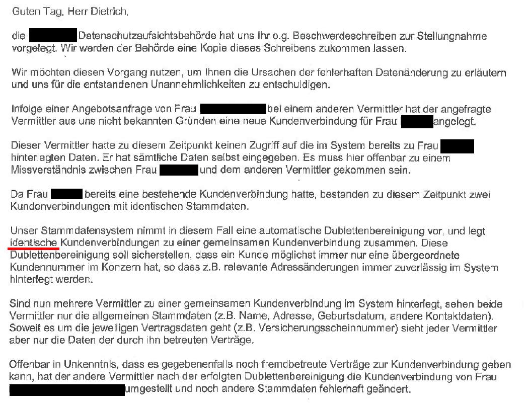 Unbenann Datenschutzverletzung und Angebotserstellung!