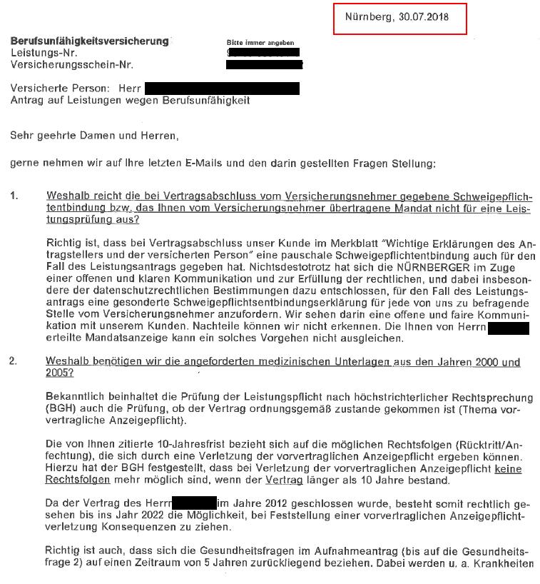 33 Öffentlichkeit erzeugt tatsächlich Eile? Nürnberger Lebensversicherung.