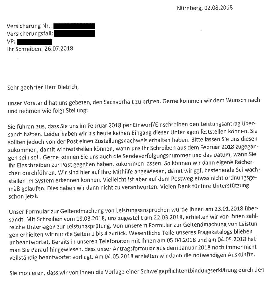 55 Öffentlichkeit erzeugt tatsächlich Eile? Nürnberger Lebensversicherung.