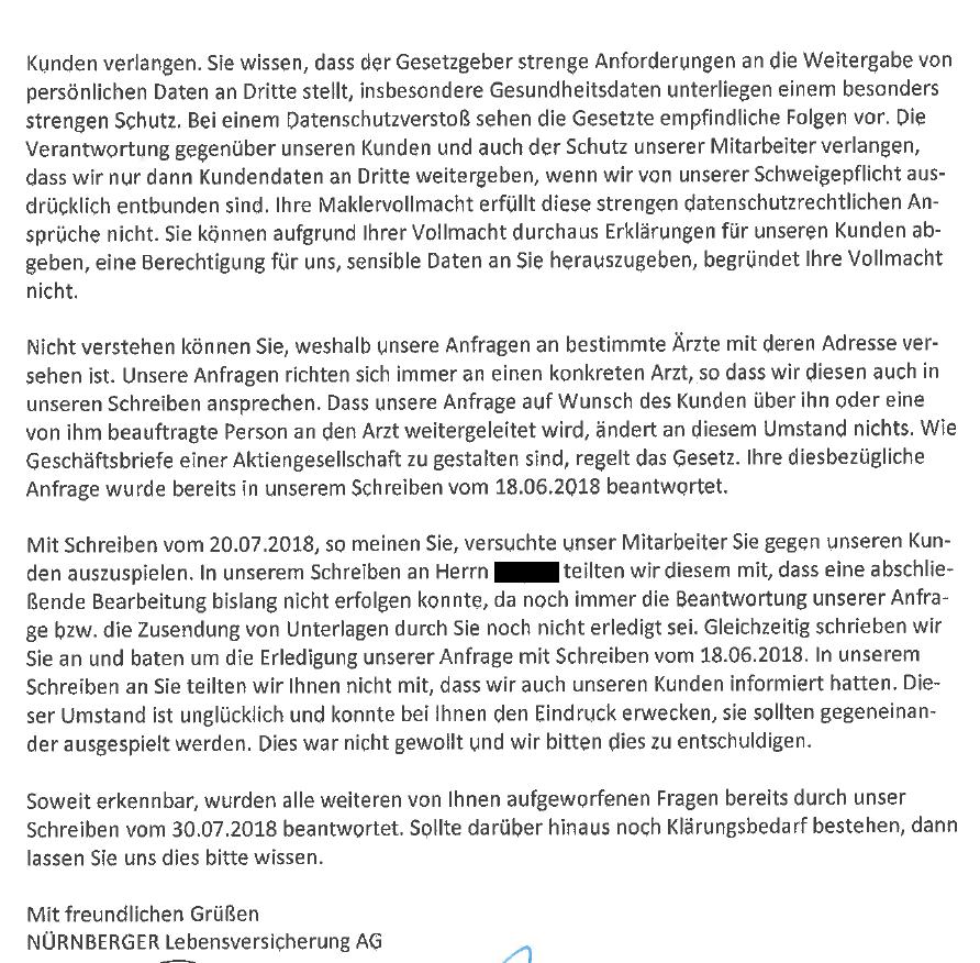 77 Öffentlichkeit erzeugt tatsächlich Eile? Nürnberger Lebensversicherung.
