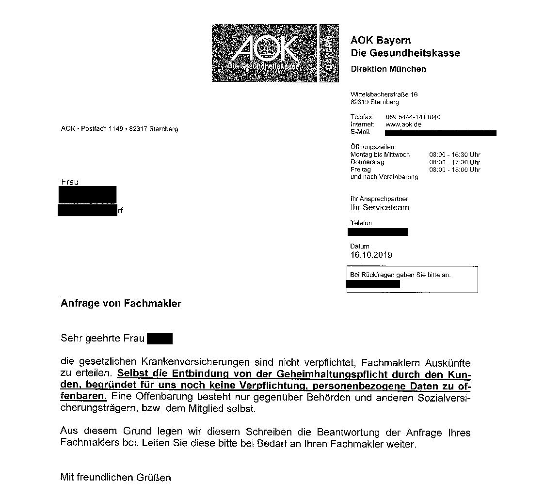 aok-bayern DSGVO – wen aber kümmert es?