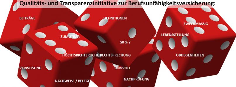 Qualitäts-/ Transparenzinitiative zur Berufsunfähigkeitsversicherung.