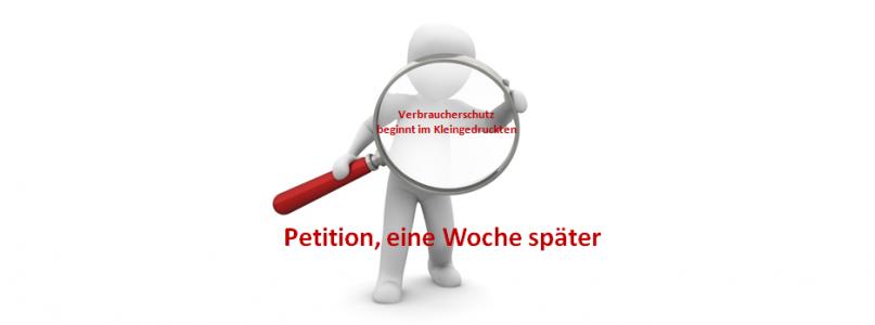 Die Petition-eine Woche später